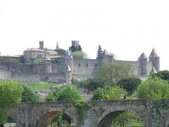 Pont-Vieux - Deutsch: Carcassonne Ansicht über die Aude 5