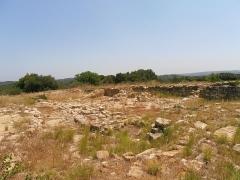 Vestiges de l'oppidum de Pech de Maho - Pech Maho est un oppidum élisyque dans le Languedoc près de Sigean