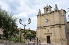 Eglise Saint-Martin -  Church of Aujargues in the Gard district France