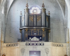 Eglise Saint-Paul, ancienne église des Cordeliers - Français:   tribune et orgue, seul le buffet est classé monument historique depuis le 07-12-1994