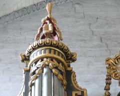 Eglise Saint-Paul, ancienne église des Cordeliers - Français:   couronnement tourelle gauche