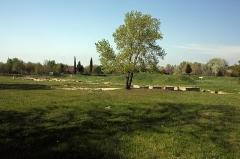 Via Domitia (également sur communes de Redessan et Jonquières-Saint-Vincent, dans le Gard, et Castelnau-le-Lez, dans l'Hérault) -  The area of low Ambrussum includes baths and taverns along the Domitia Way for Nimes.