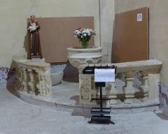 Eglise Saint-Saturnin - Calvisson (Gard, Languedoc, Occitanie, France), église paroissiale catholique Saint-Saturnin: chapelle des fonts baptismaux.