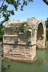 Via Domitia : Pont d'Ambrussum - Deutsch: Die römische Pont Ambroix, Département Gard (Frankreich)