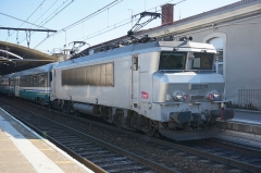 Ancienne gare - English: BB 22230 at the Nîmes station