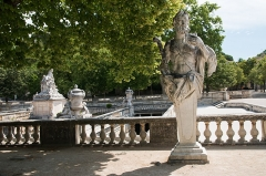 Jardin de la Fontaine - English:  Fauns and satyrs of the Nymphaeum : Pan.