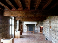 Hôtel de Piolenc, dit Maison des Chevaliers - Français:   Salle d\'apparat du premier étage de la maison des chevaliers, XVème siècle, Pont-Saint-Esprit, Gard, France