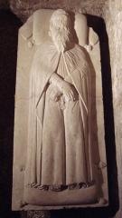 Ancienne abbaye de Saint-Gilles - English: Tombstone of Pierre De Corneillan 1355