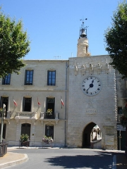 Beffroi - English: Sommières (Gard, Fr) town hall, city gate and belfry