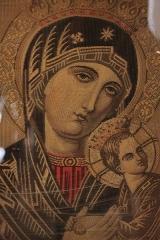 Ancienne abbaye Saint-Aphrodise - Français:   Intérieur de la Basilique Saint-Aphrodise de Béziers: Vierge à l\'enfant sur canevas.