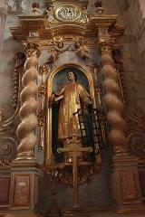 Ancienne abbaye Saint-Aphrodise - Français:   Intérieur de la Basilique Saint-Aphrodise de Béziers: Saint Laurent