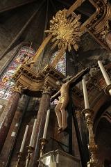 Ancienne abbaye Saint-Aphrodise - Français:   Intérieur de la Basilique Saint-Aphrodise de Béziers: Maître-autel
