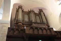 Ancienne abbaye Saint-Aphrodise - Français:   Intérieur de la basilique Saint-Aphrodise de Béziers (Hérault, Occitanie, France): orgue construit par Eugène Puget en 1883.