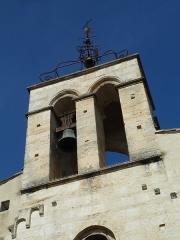 Eglise Saint-Jean-Baptiste - English: Church of Saint-Jean-Baptiste in Castelnau-le-Lez (vicinity of Montpellier, France). West side. Belltower.