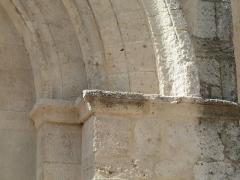 Eglise Saint-Jean-Baptiste - English: Church of Saint-Jean-Baptiste in Castelnau-le-Lez (vicinity of Montpellier, France). South side. Main portal. Right part.