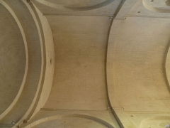 Eglise Saint-Jean-Baptiste - English: Church of Saint-Jean-Baptiste in Castelnau-le-Lez (vicinity of Montpellier, France). Vault of the third and fourth bay of the nave.