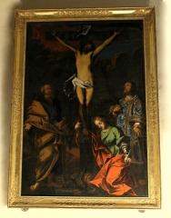 Château - Français:   Laroque - Chapelle Saint-Jean - Tableau de la Crucifixion.