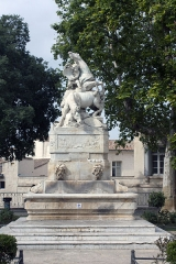 Fontaine des Licornes - English:  Fountain of unicorns.
