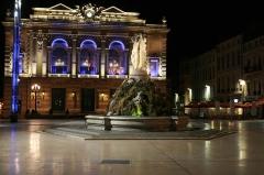 Fontaine des Trois Grâces -  Place de la Comedie at night.