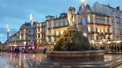 Fontaine des Trois Grâces - English: Plaza Comedie