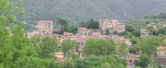 Ancien château ou donjon - English: View of Soubès, Hérault, France