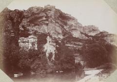 Château de la Caze - Français:   Excursion dans la région des Causses, offert par le photographe Casimir Julien à James Jackson (1843-1895) en 1892