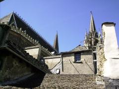 Cathédrale Notre-Dame et Saint-Privat -  Vue de la Cathédrale de Mende, Lozère (France)