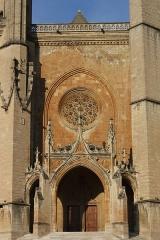 Cathédrale Notre-Dame et Saint-Privat - Deutsch: Kathedrale von Mende, Portalfassade