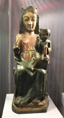 Eglise Saint-Saturnin - English: Wooden statue of