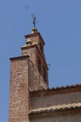 Eglise Saint-Cyr-et-Sainte-Julitte - English: Bell gable of the Saint-Cyr-et-Sainte-Julitte church in Canohès