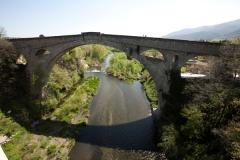 Pont sur le Tech - English: ref: PM_047149_F_Ceret; Céret; Le Pont du Diable; Languedoc-Roussillon, Pyrénées-Orientales; France; 1321; Cultural heritage; Cultural heritage/Romanesque; Cultural heritage/Romanesque Catalonia; Europe/France/Céret; Wiki Commons; Photographer: Paul M.R. Maeyaert; www.pmrmaeyaert.eu; © Paul M.R. Maeyaert; pmrmaeyaert@gmail.com;