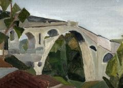 Pont sur le Tech - English: Devil's bridge, Ceret. Oil on canvas. Vincent R. 2009. Private collection.