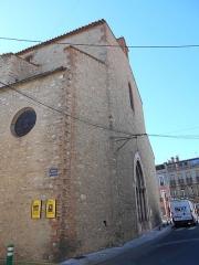 Eglise paroissiale Sainte-Eulalie et Sainte-Julie - Català: Façana occidental de Santa Eulàlia
