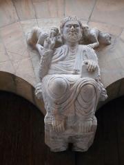 Eglise du Vieux-Saint-Jean - Català: El Crist en Majestat