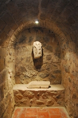 Eglise Saint-André de Sorède - Deutsch: St-André-de-Sorède, Fragment eines muslemischen Grabsteins