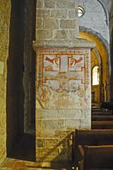 Eglise Saint-André de Sorède - Deutsch: St-André-de-Sorède, Fleilersockel mit Fresken