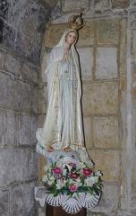 Eglise Saint-André - Français:   Vierge de Fatima offerte par la communauté portugaise d\'Angoulême, église Saint-André, Agoulême, Charente, France.