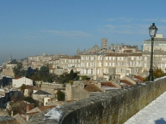 Remparts - English: Rempart Desaix (city wall) in Angoulême (France) by a winter sunday
