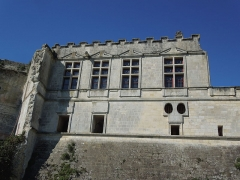 Château - Deutsch: Der Palas des Château de Bouteville, gesehen von Osten