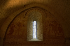Chapelle des Templiers - English: West wall of the Cressac's Templar Commandery