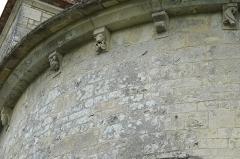Eglise Saint-Denis - Deutsch: Katholische Kirche Saint-Denis in Lichères im Département Charente (Nouvelle-Aquitaine/Frankreich), Kragsteine