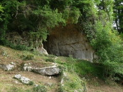 Gisement préhistorique - Français:   Roc de Sers (grotte est), Charente, France