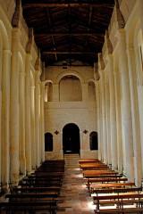 Eglise Saint-Martin - Deutsch:   Chadenac, Schiff, nach hinten gesehen