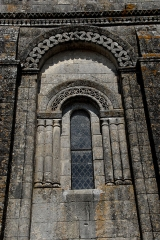Eglise Saint-Martin - Deutsch:   Chadenac, Arkatur, Längswand des Schiffs