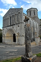 Eglise Saint-Pierre - Deutsch: .Echebrune, St.-Pierre,Übersich von Südwest