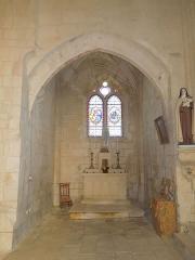 Eglise Saint-Pierre - Deutsch: Querschiff der katholischen Pfarrkirche Saint-Pierre in Échebrune
