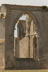 Ancienne abbaye Notre-Dame de Ré, dite des Châteliers - English: Abbey Notre-Dame de Ré, Detail, Ré Island, Charente-Maritime, France