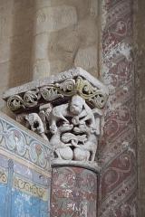 Eglise Saint-Herie - Deutsch: Katholische Kirche St-Hérie in Matha im Département Charente-Maritime (Nouvelle-Aquitaine/Frankreich), Kapitell
