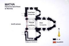 Eglise Saint-Pierre de Marestay - Deutsch: Pfarrkirche Saint-Pierre-de-Marestay, Grundriss