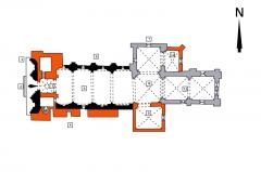 Eglise Saint-Pierre - English:   church of Pont-l\'Abbé-d\'Arnould (17) (or fr:Pont-l\'Abbé-d\'Arnoult)  colours:  15th c. = orange: f95207 (R: 249, G: 82, B: 7) 13th c. = grey: aaaab7 (R: 170, G: 170, B: 183) 12th c. = black: 000000 (R: 0, G: 0, B: 0) numbers: see German text
